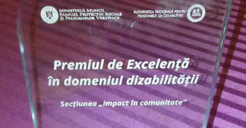 Fundatia Pentru Voi a castigat competitia pentru primul Premiu de Excelenta in domeniul dizabilitatii!