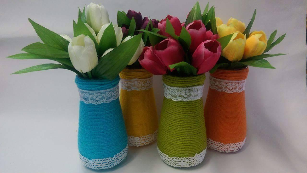 Vaza decorativa handmade pentru flori